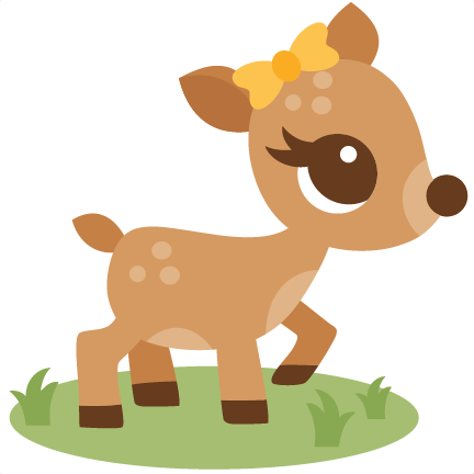 image black and white library Cute deer clipart.  collection of high