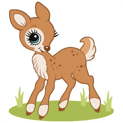 image transparent library Svg scrapbook cut file. Cute deer clipart