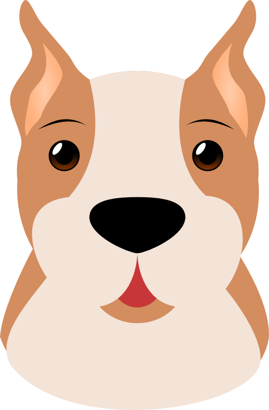 banner Cute Dog Face Clipart