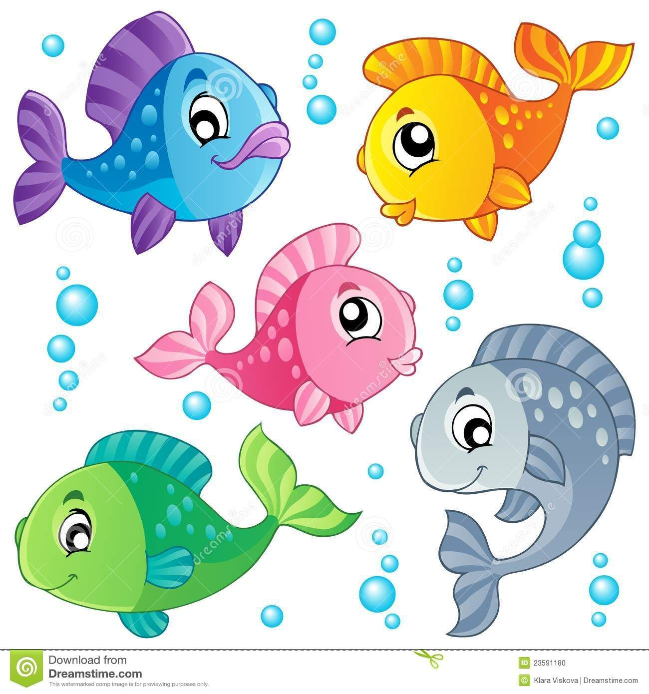 image library download Clip art various fishes. Cute fish clipart