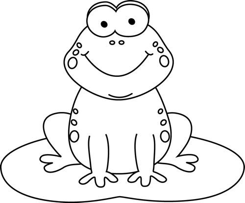stock Frogs clipart black and white. Frog clipground