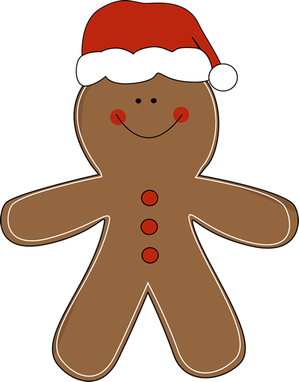 svg free library Cute Gingerbread Men Clipart