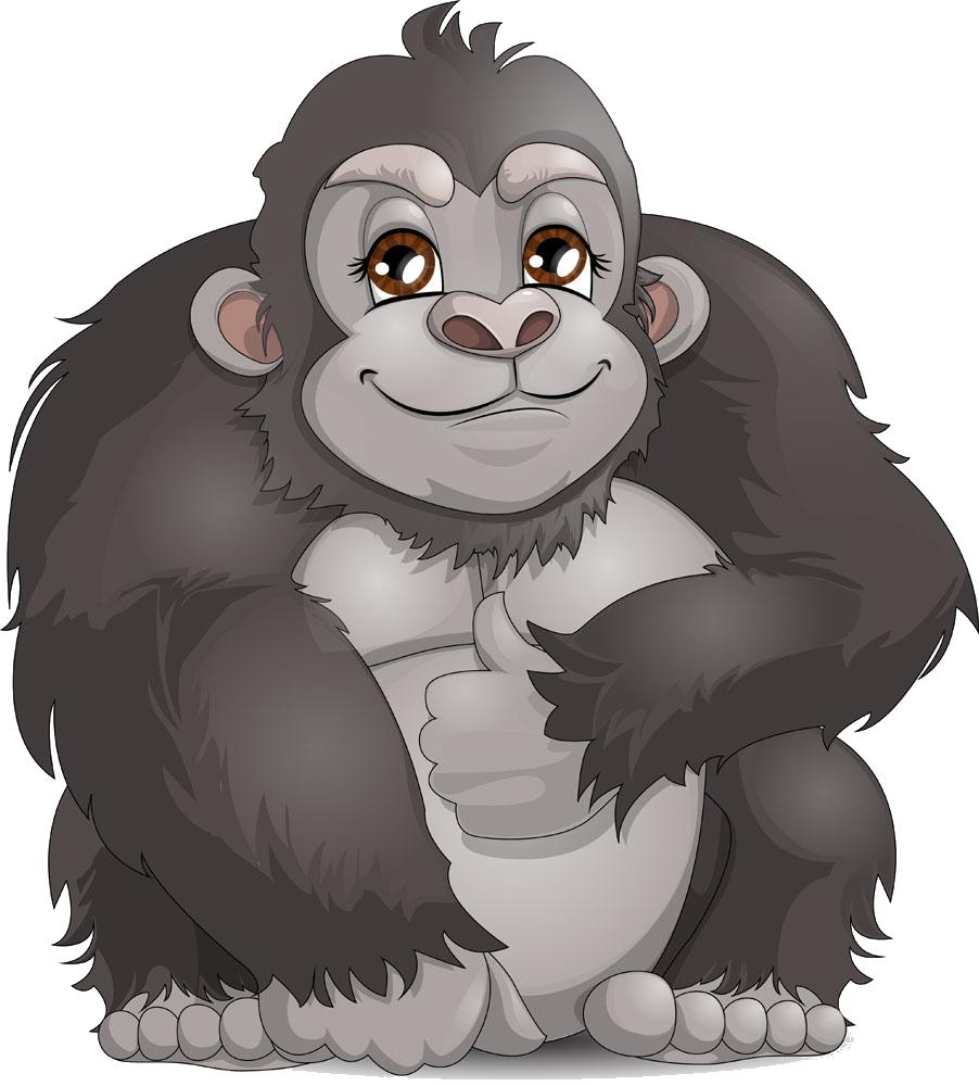 clip black and white Western clip art cute. Ape clipart gorilla