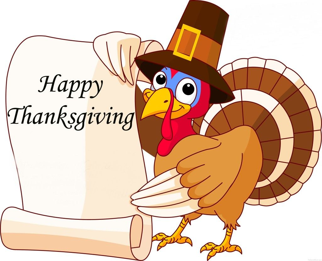 picture free Cute happy thanksgiving turkey clipart.  cartoon images