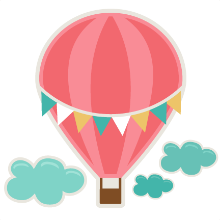 black and white library Hot Air Balloon SVG cutting file for scrapbooks svg cut files free