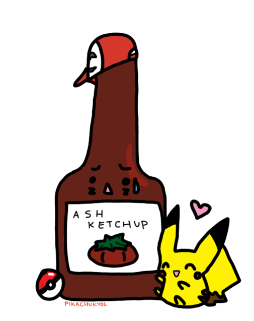 clip free stock Ketchup clipart png. Ash by pikachukyol on