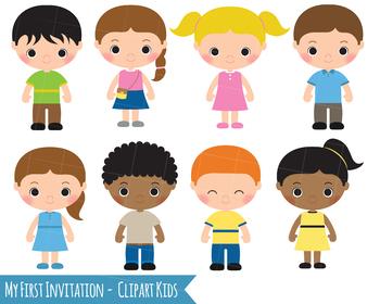royalty free download Clipart kids. Children girl boy clip
