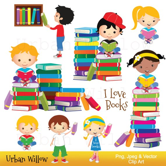 picture free download Clip art school books. Library kids clipart