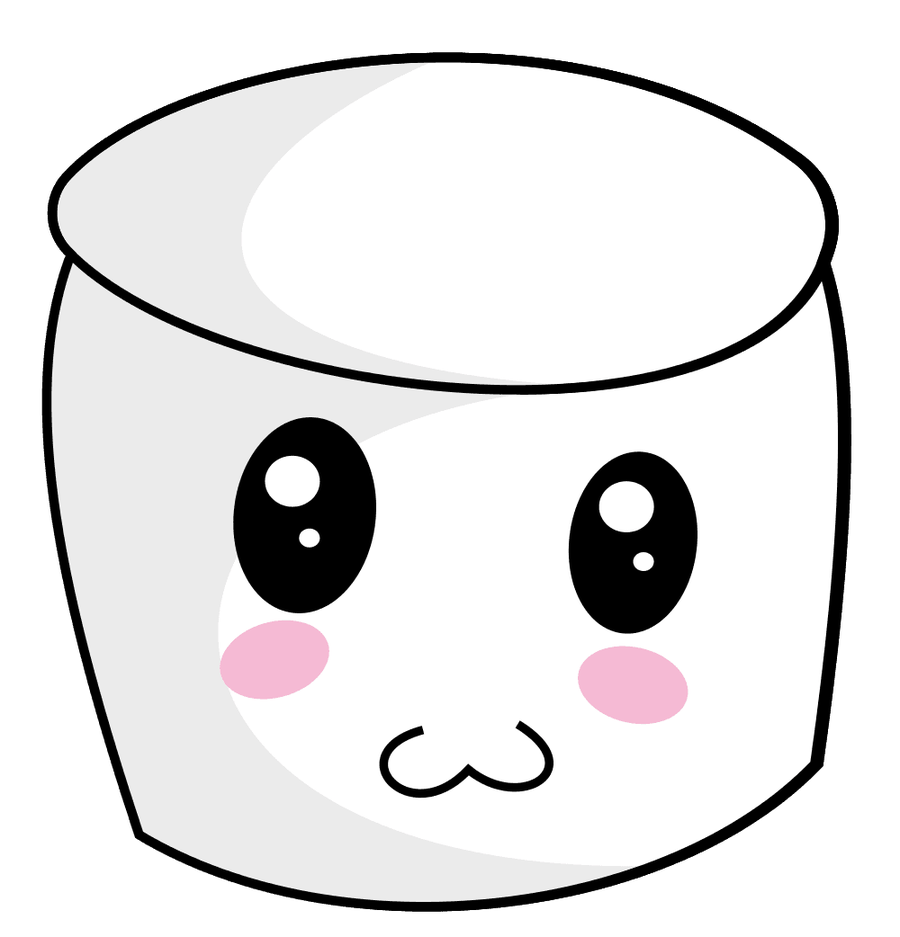 vector freeuse download Container bucket cute face. Marshmallow clipart.