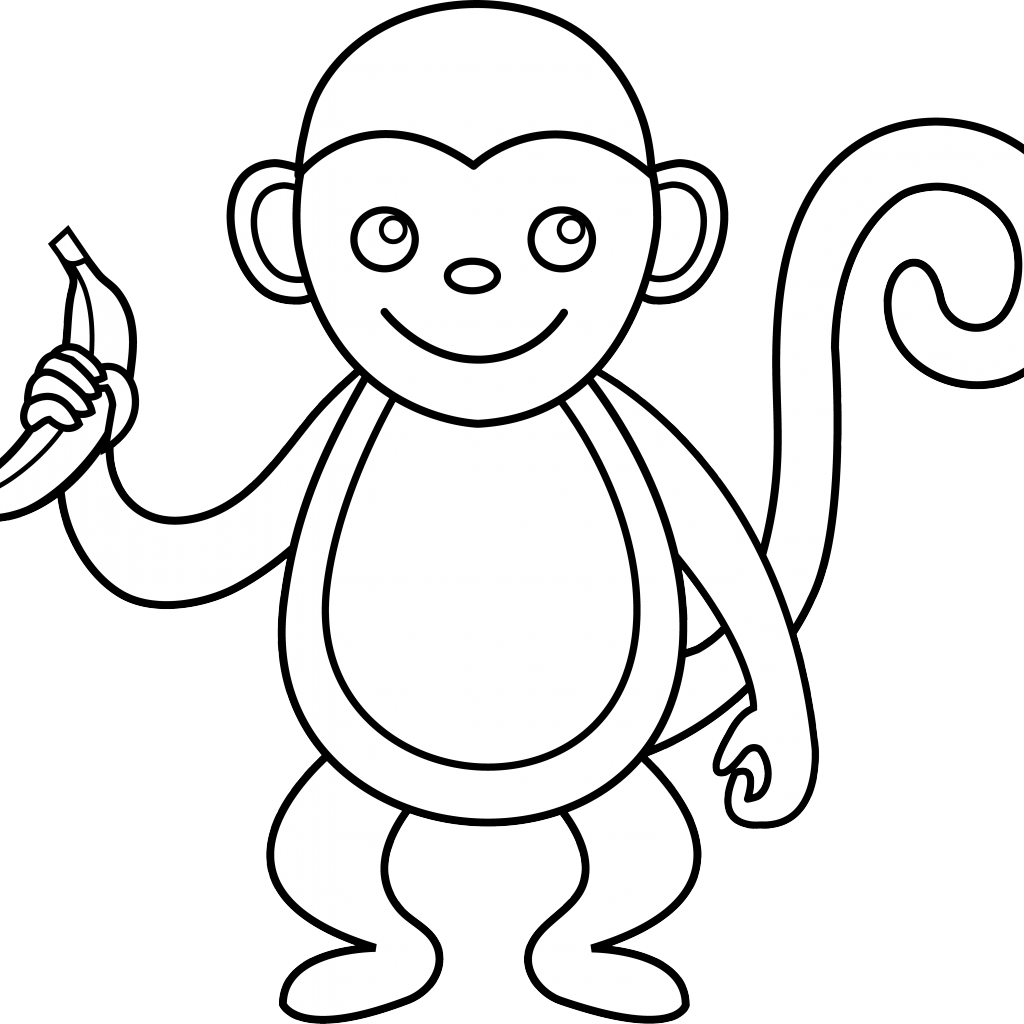 png free library Cliparts x carwad net. Cute monkey clipart black and white