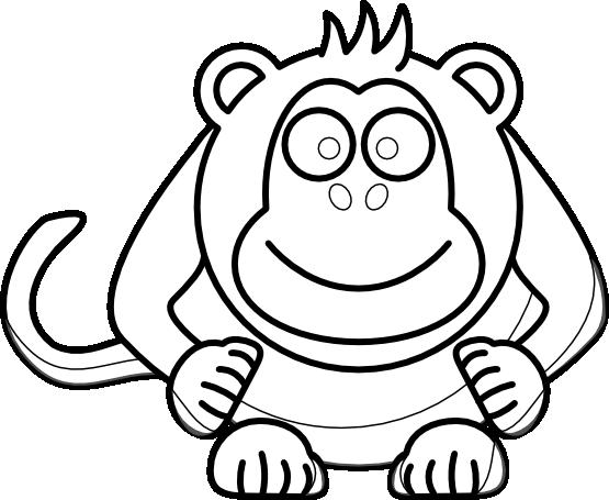 transparent download Clip art panda free. Cute monkey clipart black and white