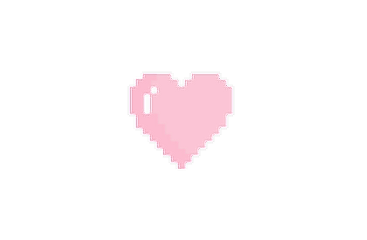 jpg black and white library Cute pink heart. Cuteness stickers picsart pixel