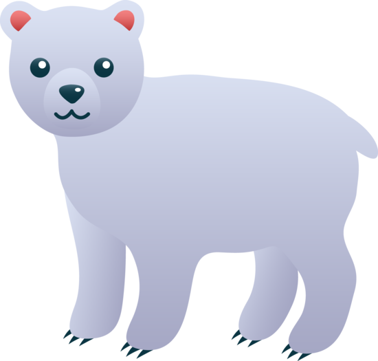vector download Cute Polar Bear Clip Art