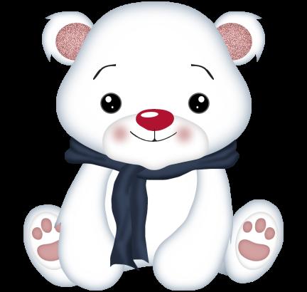 svg black and white download Cute polar bear clipart. Winter wonder pinterest bears