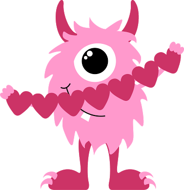 clip library monster clipart cute