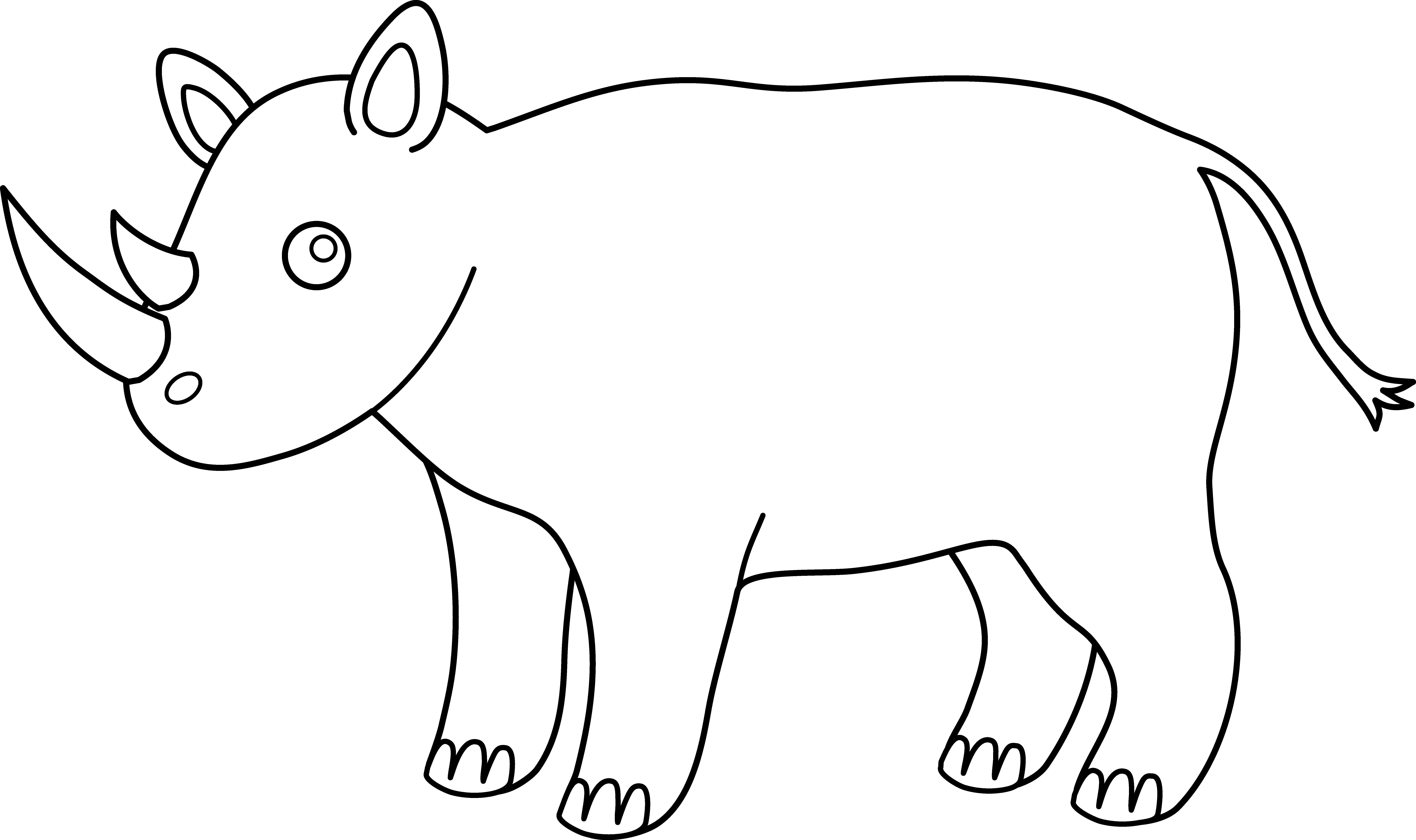 svg Rhino Clipart