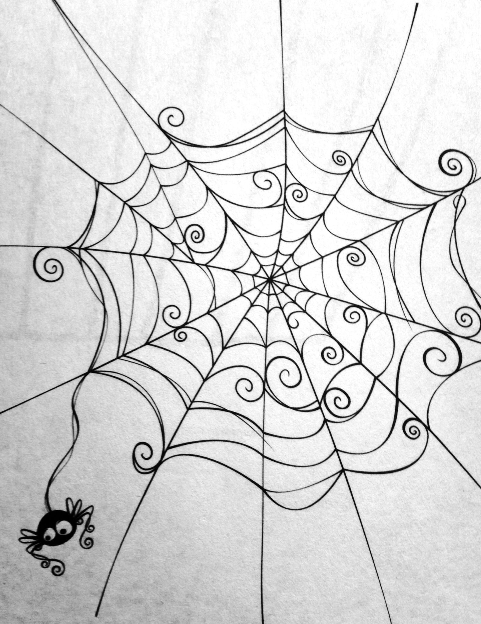 image transparent stock Cute spider web clipart. Halloween art and printables
