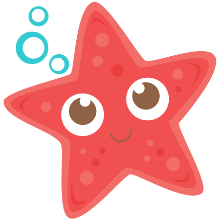vector library download Cute Starfish Clipart