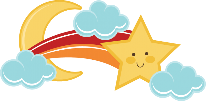 banner transparent stock Shooting Stars Cute Clipart