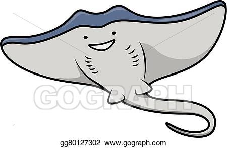 svg royalty free stock Eps vector stock illustration. Cute stingray clipart