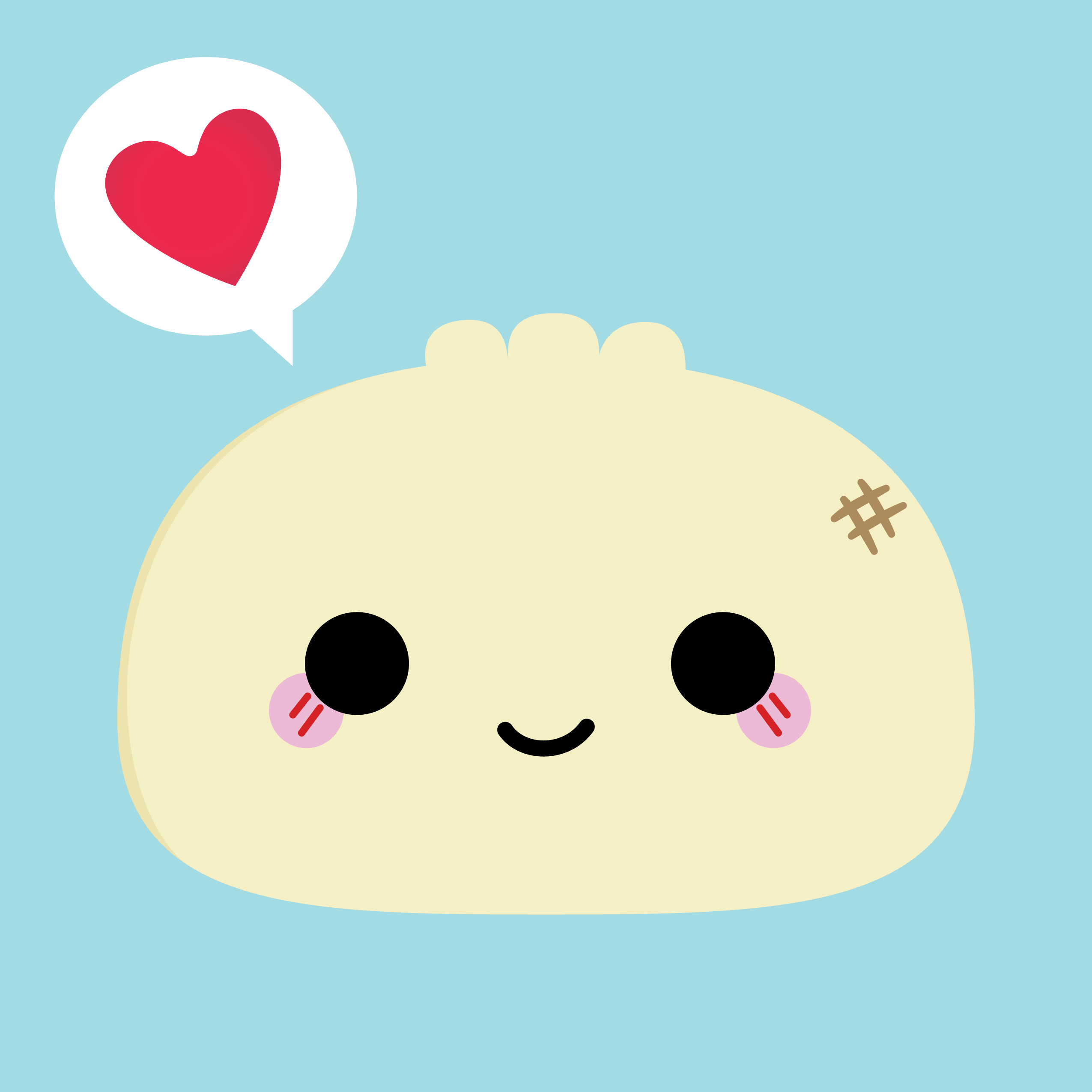 banner library download Dumpling drawing steam bun. C pincinc kawaii illustration