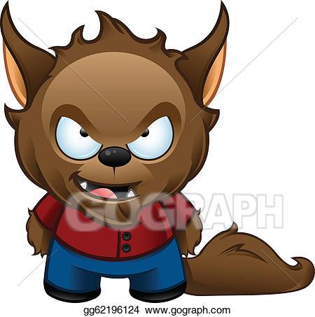 download Eps vector monster bad. Cute werewolf clipart.