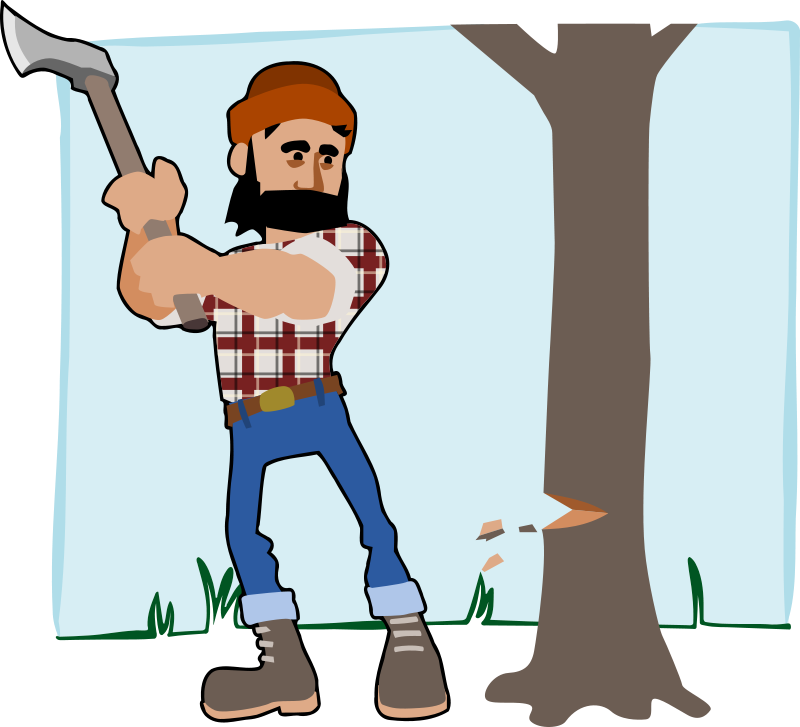 picture royalty free stock cutting down trees clipart #68048953