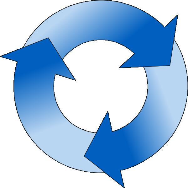 clip art royalty free Circular arrow in blue. Cycle arrows clipart.