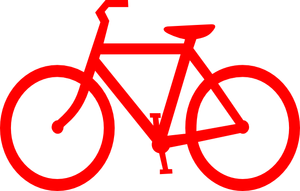 picture stock Red bicycle outline clip. Cycle clipart