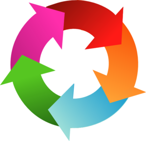 jpg library download Cycle clipart. Arrows .