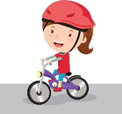 clip art black and white download Learn clipart girl. Cycling tricycle free on.