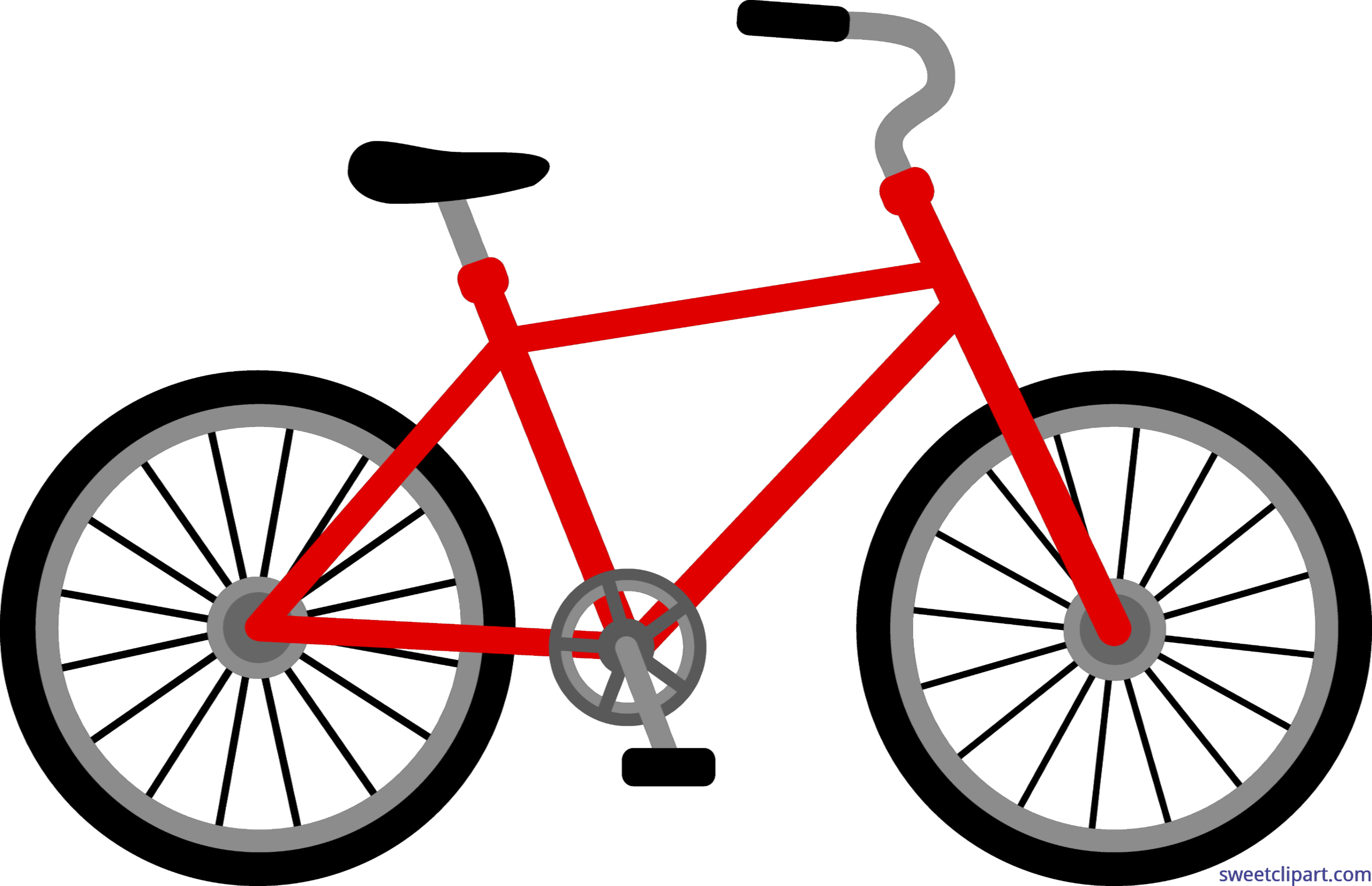 clip black and white library Biking clipart tree. Red bike clip art.