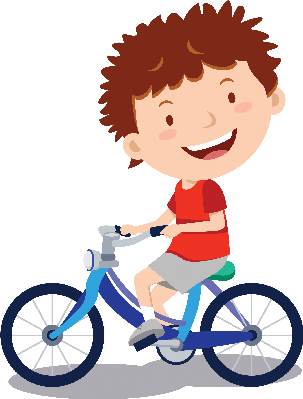 banner black and white library Little boy the arts. Cycling clipart