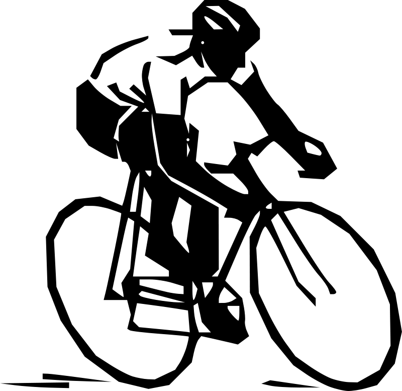 jpg black and white Cyclist silhouette transparent png. Cycling clipart
