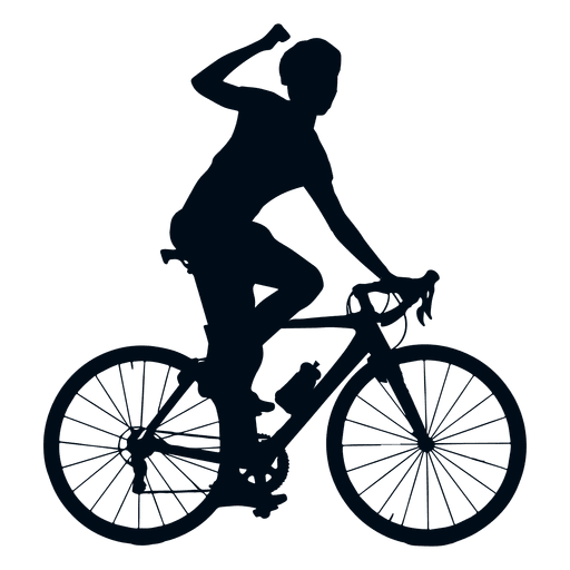 vector royalty free download Cyclist vector. Cycling winner silhouette transparent