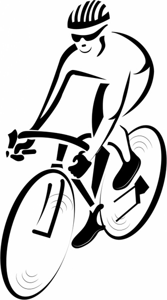 clipart download Cyclist vector. Free in adobe illustrator