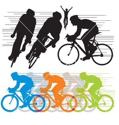 jpg library library Silhouettes go shirts silhouette. Cyclist vector