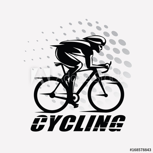 picture library download Cyclist vector. Cycling race stylized symbol