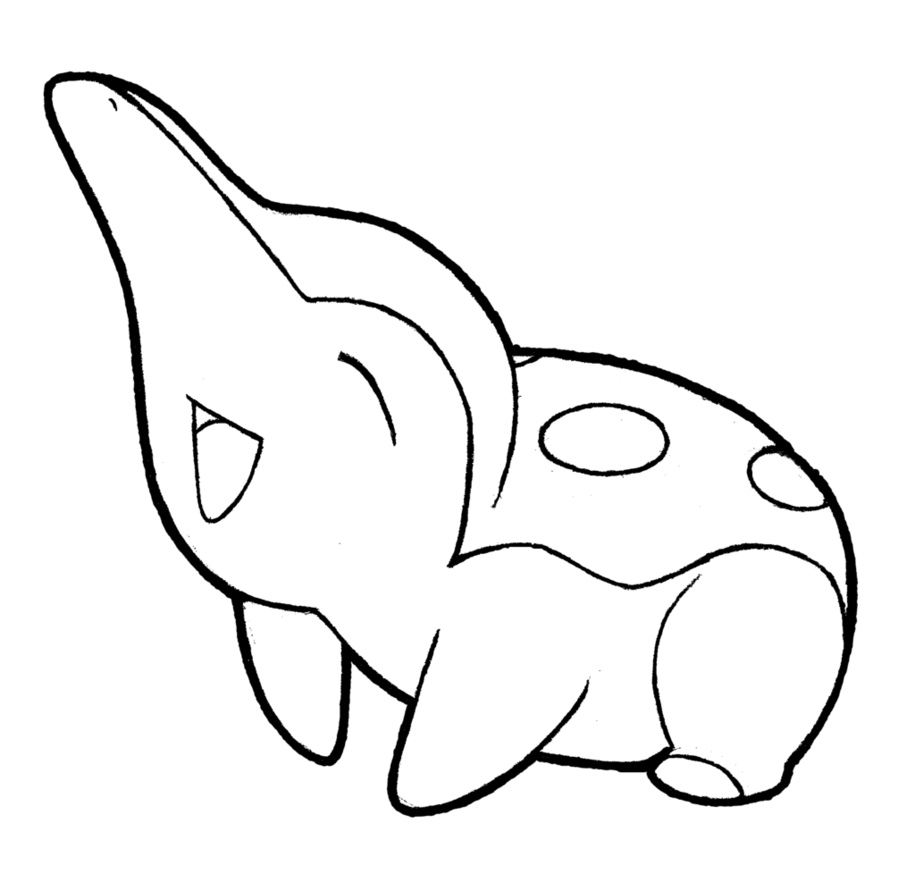 jpg black and white cyndaquil drawing #86592147