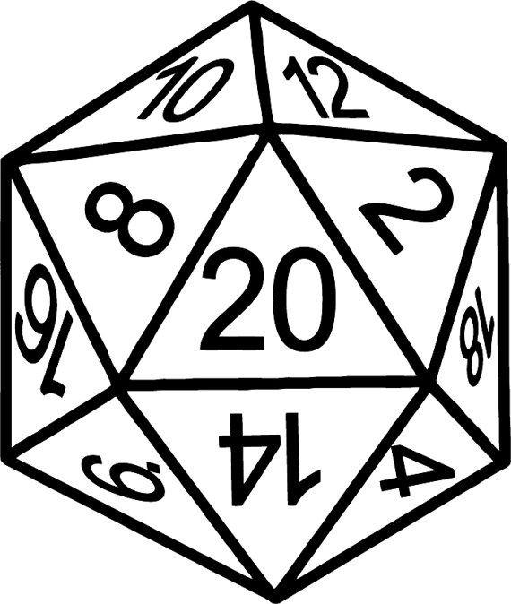jpg download D20 clipart rpg dice. D transparent free for