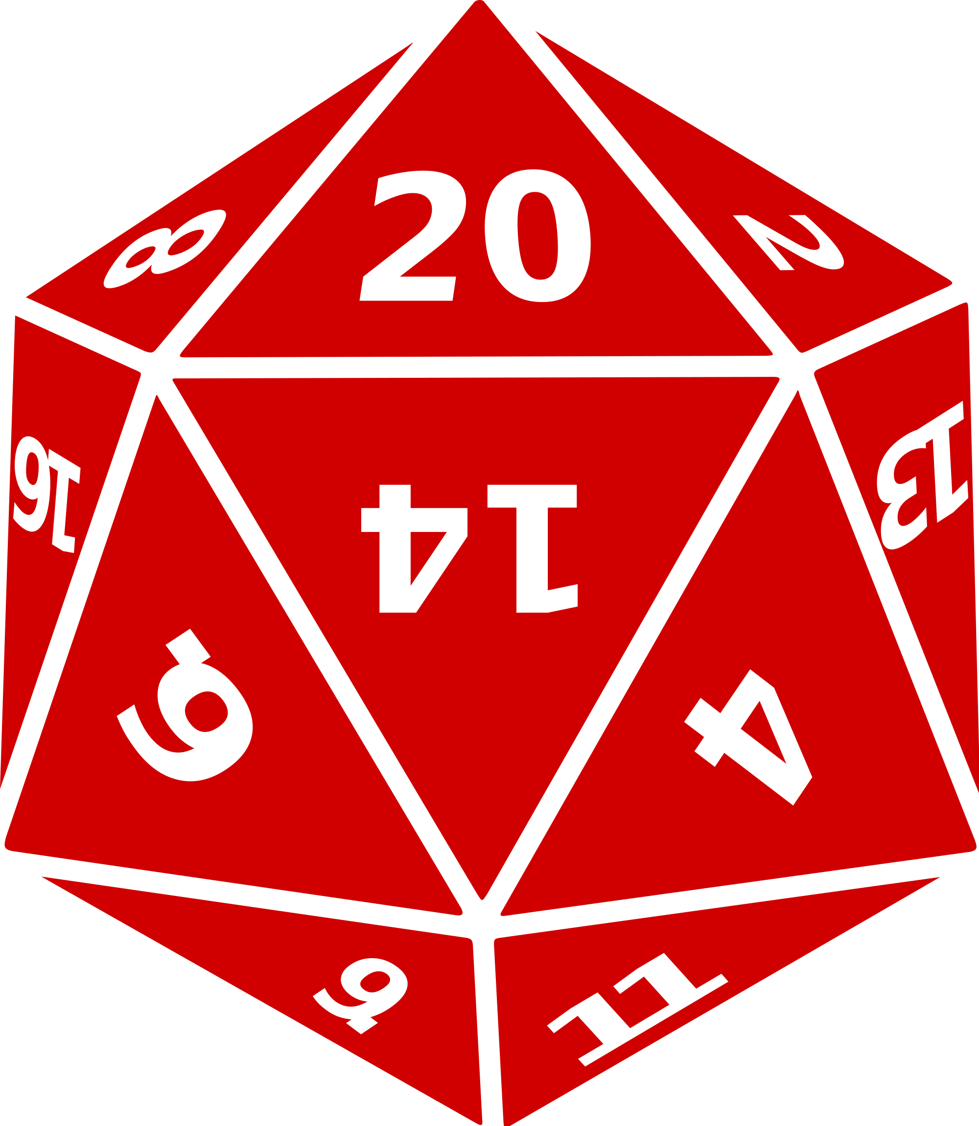 graphic D20 clipart. File twenty sided dice.