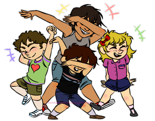 clipart free They all dab