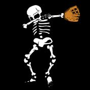 svg freeuse library Dabbing Skeleton Baseball Glove Halloween Dab by FreshDressedTees