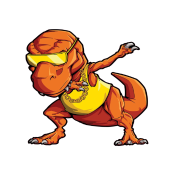 picture royalty free download dabbing drawing t rex #93065300