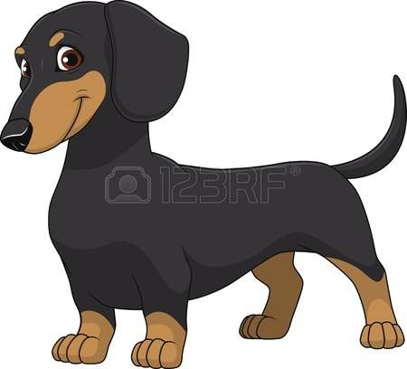 clipart black and white library  stock illustrations cliparts. Dachshund clipart.