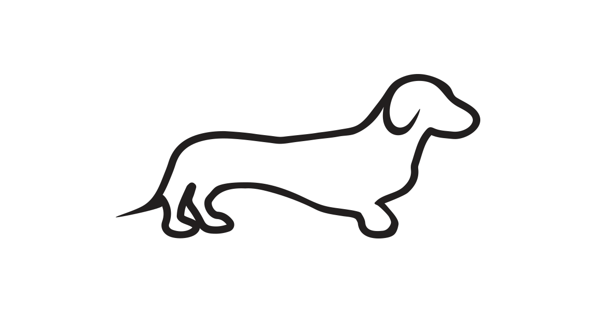clip art royalty free Dachshund clipart black and white. Vector png free download