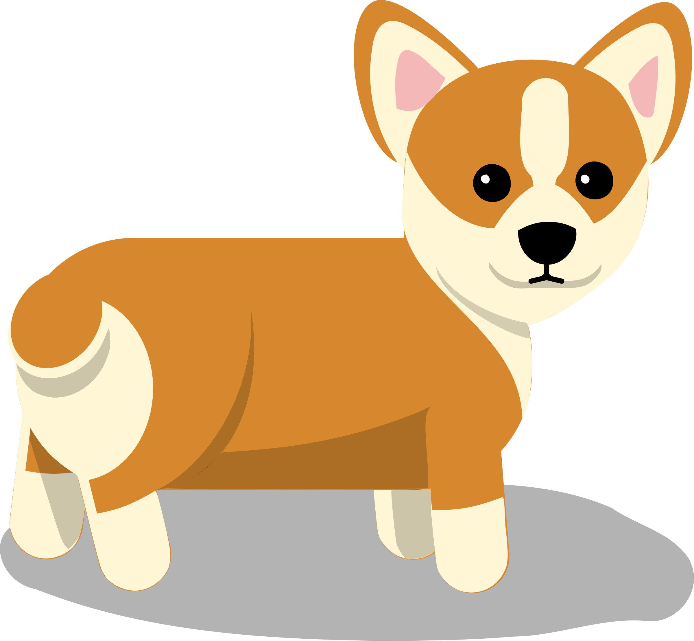 black and white library Corgi silhouette clip art. Vector bulldog chihuahua