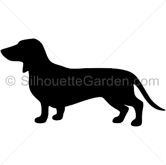 royalty free download Dachshund silhouette clip art
