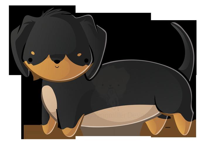 freeuse dachshund clipart short dog #77913799