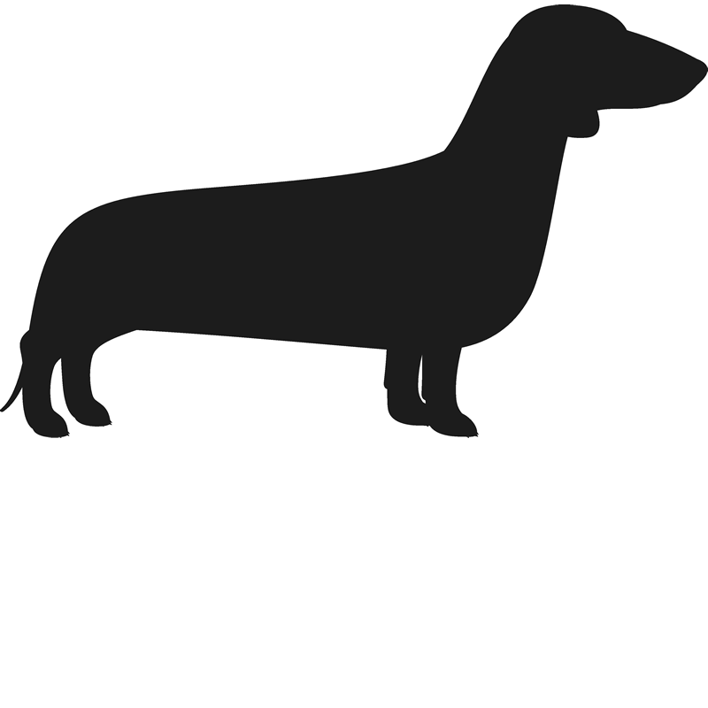 clip free stock Daschund Silhouette at GetDrawings